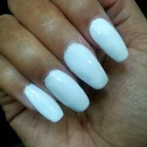 badly filed acrylic nails